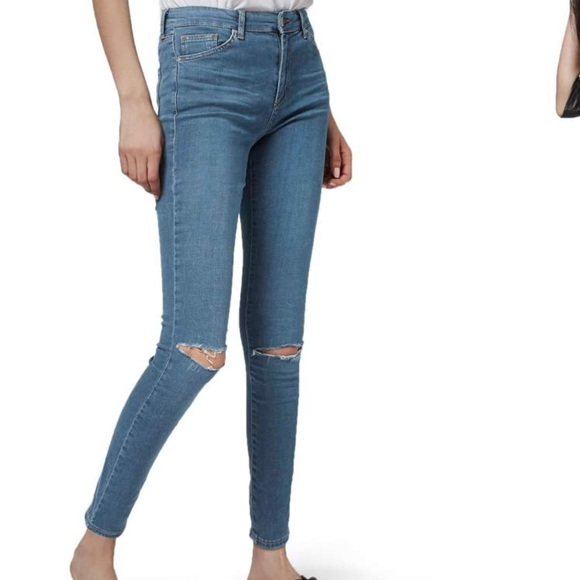 12923139b29 Topshop Jeans | Moto Leigh Skinny Ripped | Poshmark